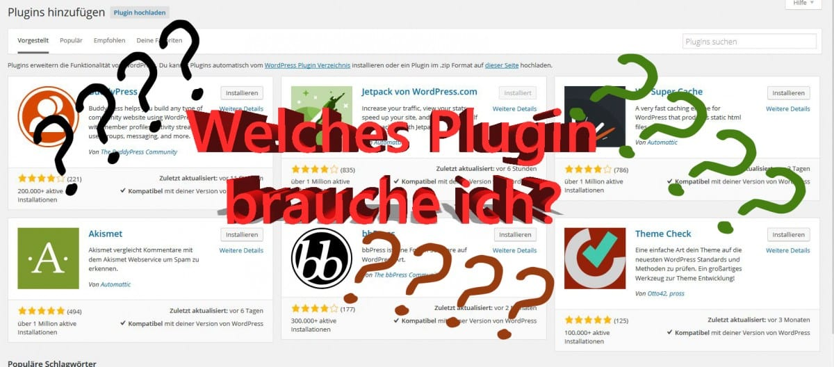 Must have Plugins für WordPress