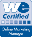 WE Zertifikat Online Marketing Manager